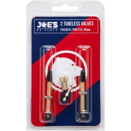 Joe's Tubeless French/Presta Valve 48 mm βαλβίδες Δαλαβίκας bikes