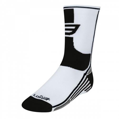 Force Long Plus Άσπρο / Μαύρο ποδηλατικές κάλτσες Δαλαβίκας bikes