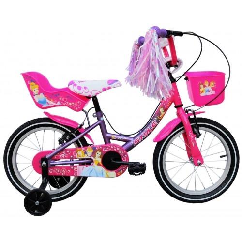 """Παιδικό ποδήλατο 14"""" Style Princess - Ροζ/Μωβ Δαλαβίκας bikes"""