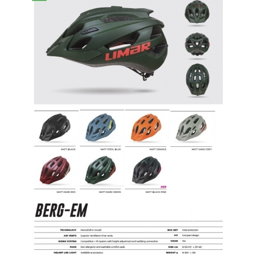 Limar Berg- Em ποδηλατικό κράνος MTB/ Enduro/E-bike Δαλαβίκας bikes