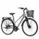 "Lombardo Milano 28"" Donna Trekking Grey Anthracite Glossy ποδήλατο πόλης"