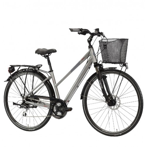 "Lombardo Milano 28"" Donna Trekking Grey Anthracite Glossy ποδήλατο πόλης Δαλαβίκας bikes"
