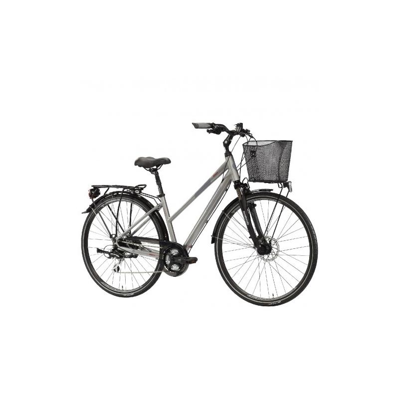 "Lombardo Milano 28"" Donna Trekking Grey Anthracite Glossy ποδήλατο πόλης Dalavikas bikes"