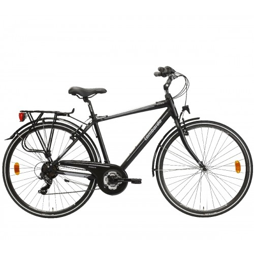 "Lombardo Mirafiori 270 28"" Uomo Trekking Black Grey Matt ποδήλατο Δαλαβίκας bikes"