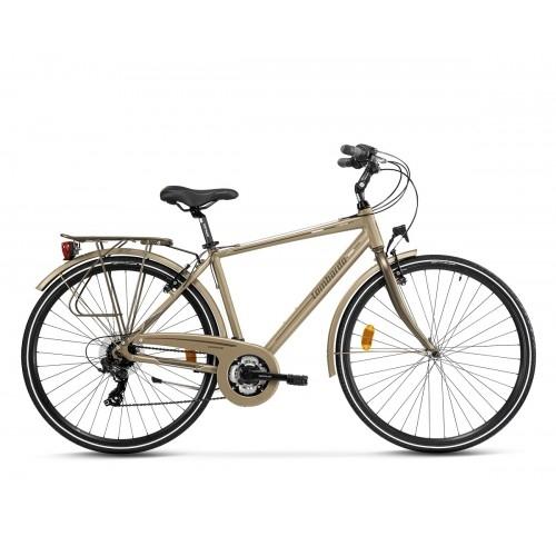 "Lombardo Mirafiori 270 28"" Uomo Trekking Brown Tan Matt ποδήλατο Δαλαβίκας bikes"