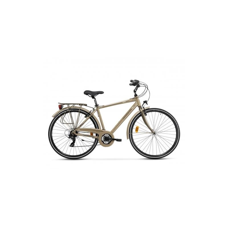"Lombardo Mirafiori 270 28"" Uomo Trekking Brown Tan Matt ποδήλατο Dalavikas bikes"