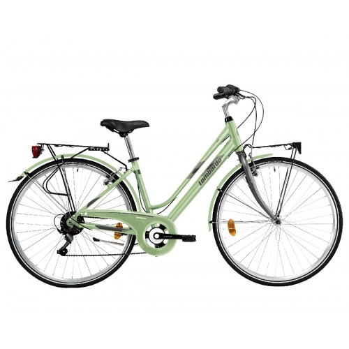 "Lombardo Mirafiori 250 28"" Donna Trekking Green Wood Black Matt ποδήλατο πόλης Δαλαβίκας bikes"