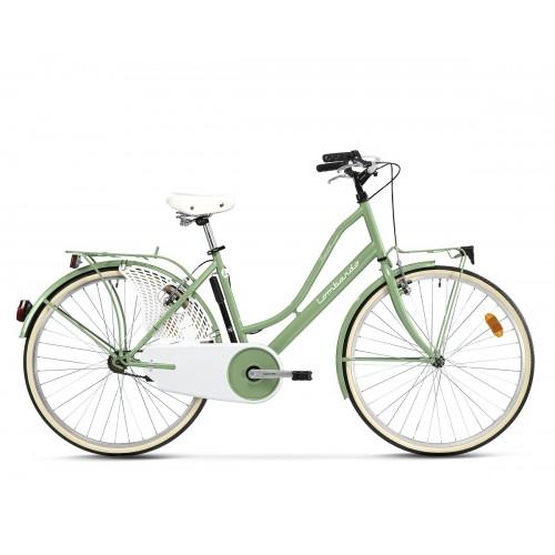 "Lombardo Ferrara Classic 26"" Green Wood Glossy ποδήλατο πόλης Δαλαβίκας bikes"