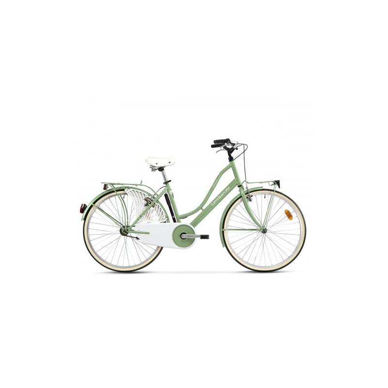 """Lombardo Ferrara Classic 26"""" Green Wood Glossy ποδήλατο πόλης Dalavikas bikes"""