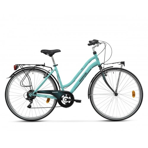 "Lombardo Siena 100 28"" Donna Trekking - Tiffany Anthracite Glossy ποδήλατο πόλης Δαλαβίκας bikes"