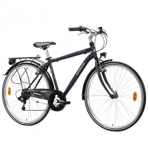 "Lombardo Siena 100 28"" Uomo Trekking - Blue White Matt ποδήλατο πόλης Δαλαβίκας bikes"