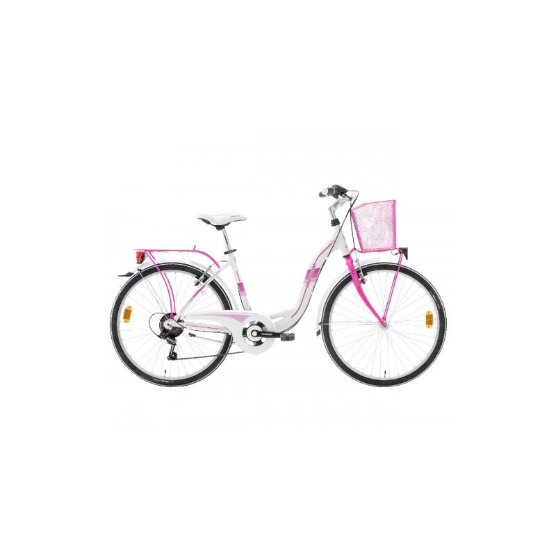 "Lombardo Taormina 26"" City White-Fuchsia ποδήλατο πόλης Dalavikas bikes"
