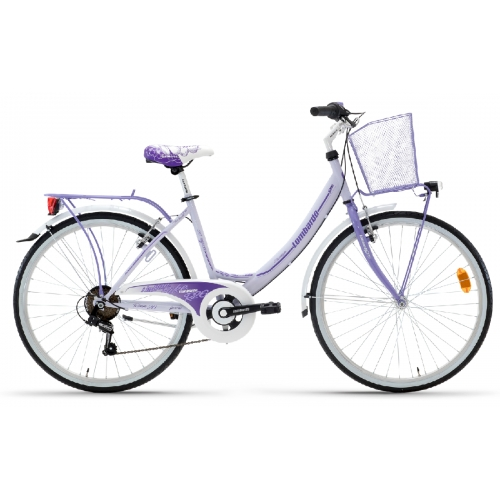 "Lombardo Rimini 26"" City 6-speed Light Purple-Purple Glossy ποδήλατο πόλης Δαλαβίκας bikes"