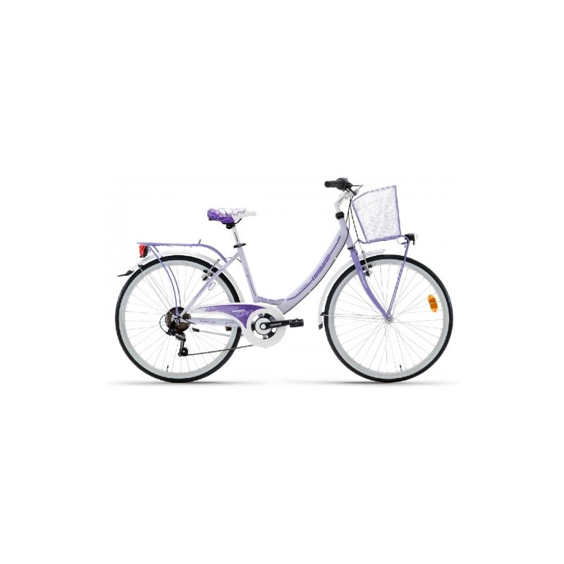 "Lombardo Rimini 26"" City 6-speed Light Purple-Purple Glossy ποδήλατο πόλης Dalavikas bikes"