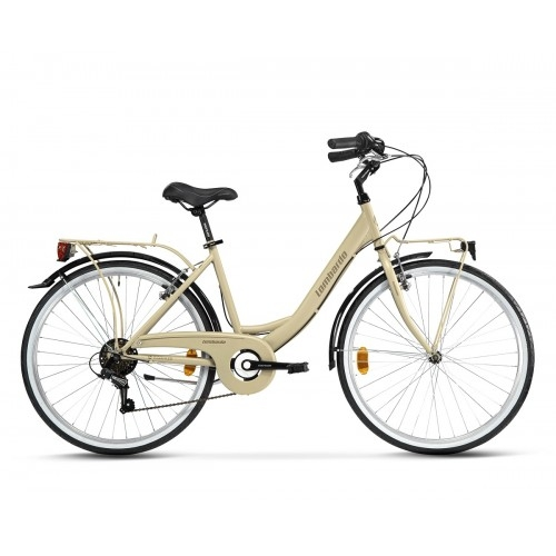 "Lombardo Rimini 26"" City 6-speed Sand Light Brown Glossy ποδήλατο πόλης Δαλαβίκας bikes"
