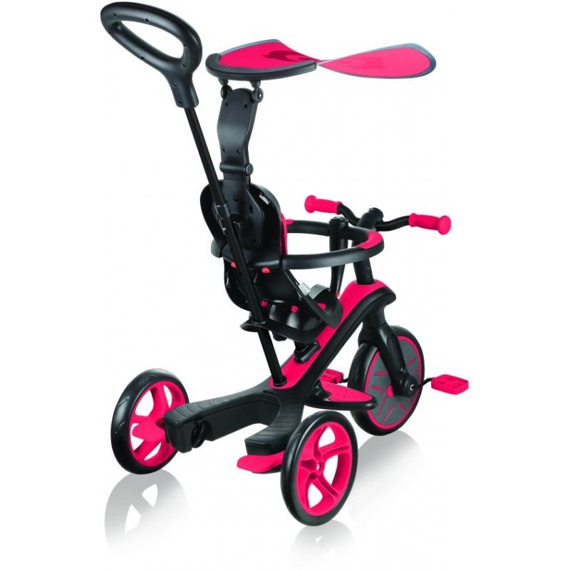 Globber Trike Explorer 4 in1-Red Τρίκυκλο ποδήλατο bebe & ισορροπίας Dalavikas bikes