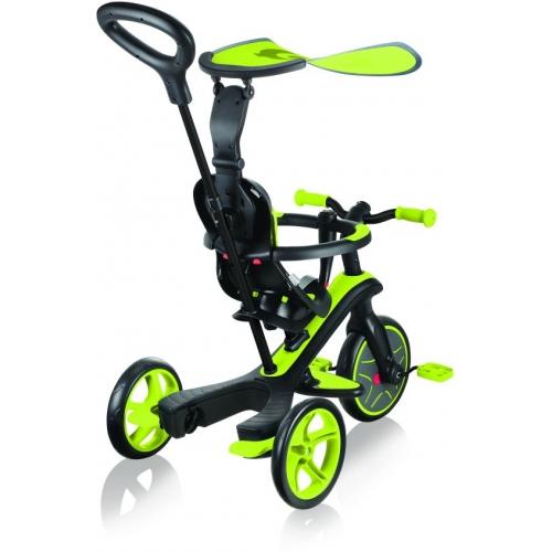 Globber Trike Explorer 4 in1-Lime Green Τρίκυκλο ποδήλατο bebe & ισορροπίας Δαλαβίκας bikes