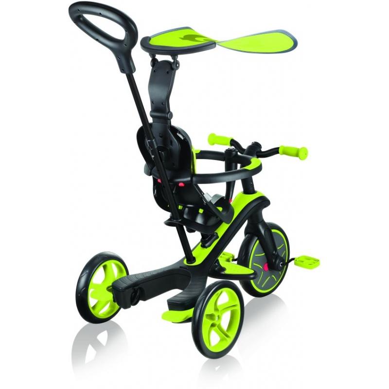 Globber Trike Explorer 4 in1-Lime Green Τρίκυκλο ποδήλατο bebe & ισορροπίας Dalavikas bikes