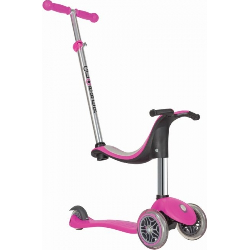 Globber Evo 4 In 1 - Deep Pink παιδικό Πατίνι- Scooter