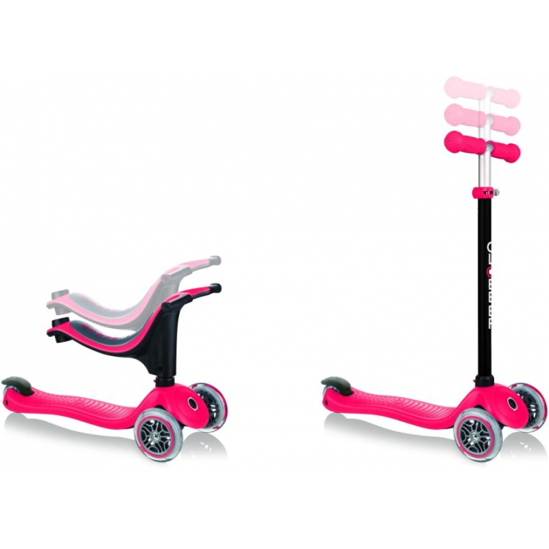 Globber Scooter Go-Up Sporty With Stabilizer & Sticker Red παιδικό Πατίνι- Scooter Dalavikas bikes
