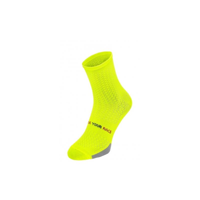 ENDURANCE. R2 κάλτσες Fluo κίτρινες Dalavikas bikes