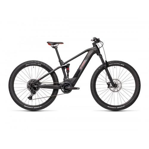 """Cube Stereo Hybrid 120 Pro 625 27.5"""" Black 'n' Red - 2021 Δαλαβίκας bikes"""
