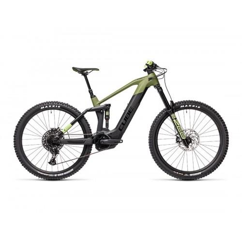 "Cube Stereo Hybrid 160 HPC SL 625 27.5"" Olive 'n' Black- 2021 Δαλαβίκας bikes"
