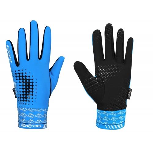 Γάντια Force Extra Fluo μπλε χειμερινά Δαλαβίκας bikes