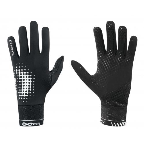 Γάντια Force Extra Fluo μαύρα χειμερινά Δαλαβίκας bikes