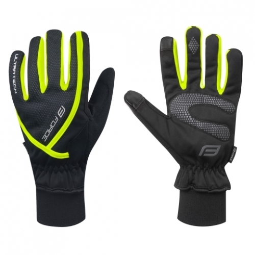 Force γάντια μακριά Ultra Tech Μαύρο/Fluo Δαλαβίκας bikes