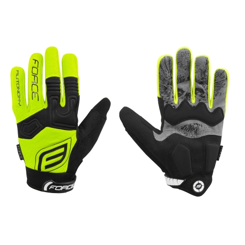 Force γάντια ενηλίκων MTB Autonomy fluo Δαλαβίκας bikes