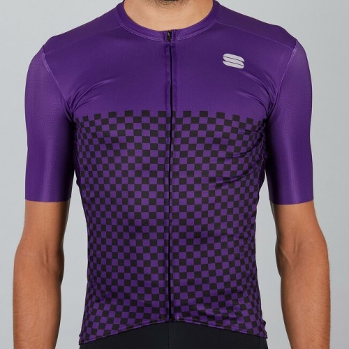Μπλούζα με κοντό μανίκι Sportful CHECKMATE Jersey S/S - Violet Δαλαβίκας bikes
