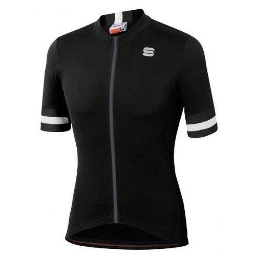 Μπλούζα με κοντό μανίκι Sportful KITE Jersey S/S - Black Δαλαβίκας bikes