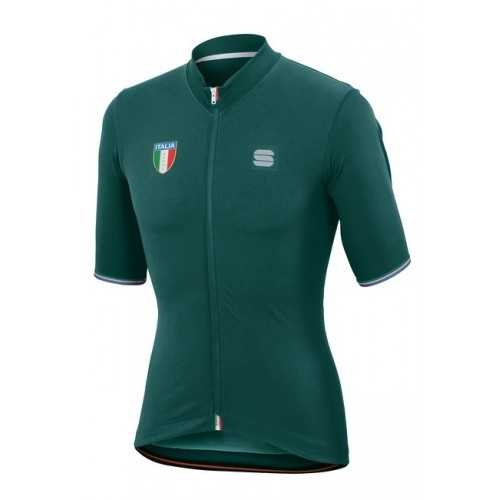 Μπλούζα με κοντό μανίκι Sportful ITALIA Jersey S/S - Green Δαλαβίκας bikes