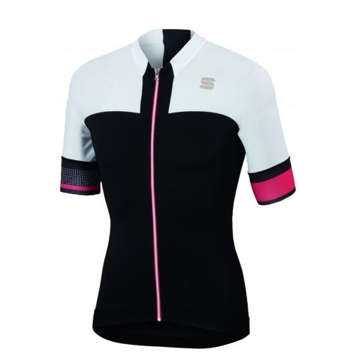 Μπλούζα με κοντό μανίκι Sportful STRIKE Jersey S/S - Black/White Δαλαβίκας bikes