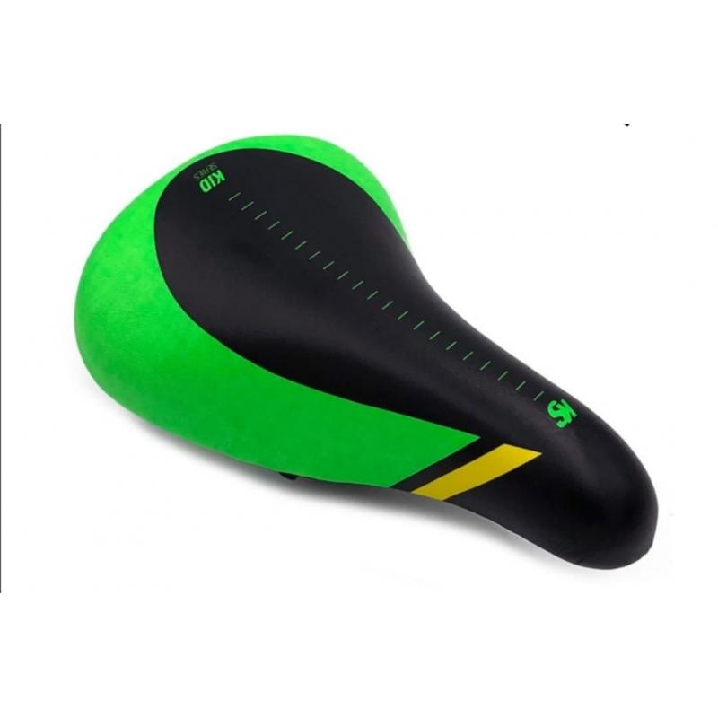 Σέλα Cyclo παιδική BMX 16'-20' - Rocky μαύρη πράσινη Dalavikas bikes