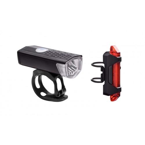 Φανάρι RFR Power Lighting Set USB - 14316 - Μάυρο Δαλαβίκας bikes
