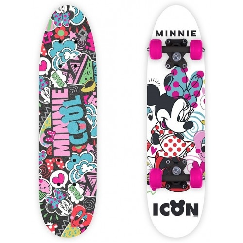 Παιδικό Skateboard- πατίνι ξύλινο Minnie. Δαλαβίκας bikes