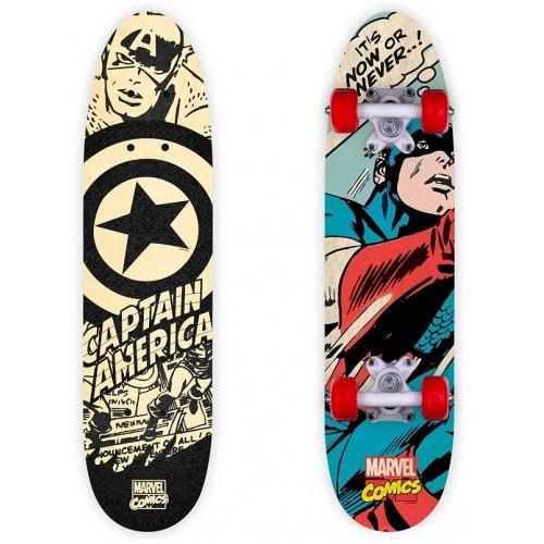 Παιδικό Skateboard- πατίνι ξύλινο Captain America Δαλαβίκας bikes
