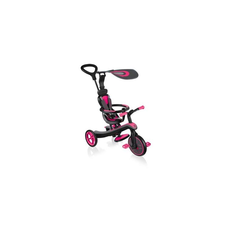 Globber Trike Explorer 4 in1- Fuchsia Pink Τρίκυκλο ποδήλατο bebe & ισορροπίας Dalavikas bikes