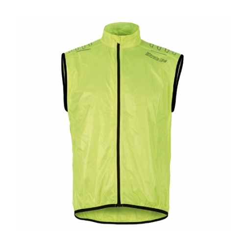 Bicycle line Denver Windproof Vest Easy Pack Yellow αντιανεμικό αμάνικο μπουφάν