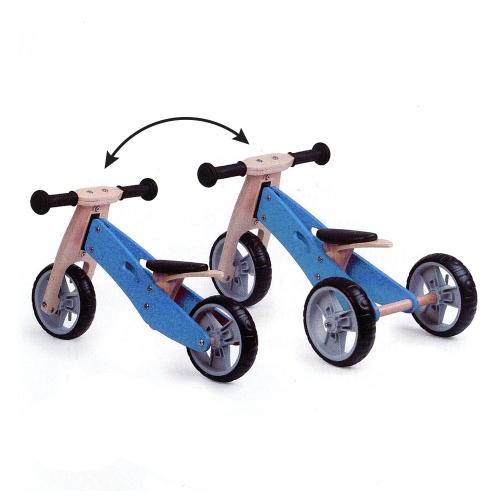 Zenit Ξύλινο Τρίκυκλο Ποδηλατάκι Trike 2 σε 1 blue Δαλαβίκας bikes