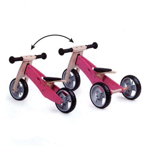 Zenit Ξύλινο Τρίκυκλο Ποδηλατάκι Trike 2 σε 1 pink Δαλαβίκας bikes