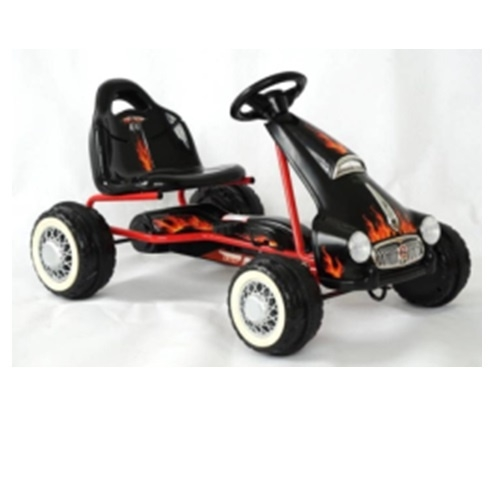 Παιδικό Ποδοκίνητο Τετράτροχο Αυτοκίνητο 'Μαύρο' Δαλαβίκας bikes
