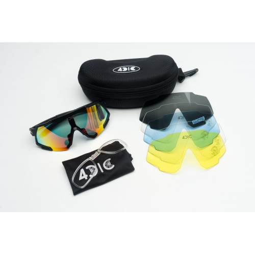 4CIC L4C Black Αθλητικά, ποδηλατικά γυαλιά ηλίου Δαλαβίκας bikes