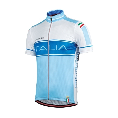 Short Sleeve Jersey Azzura Italian National Team Δαλαβίκας bikes