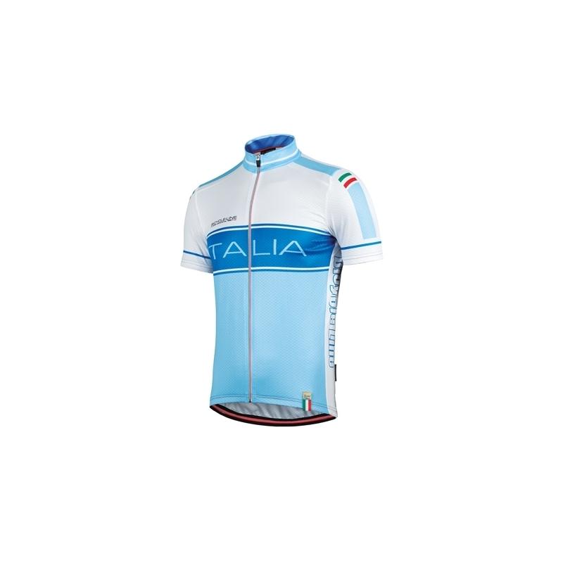 Short Sleeve Jersey Azzura Italian National Team Dalavikas bikes