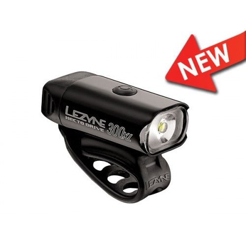 Lezyne μαύρο Hecto Drive XL μπροστινό φως 350 lumens
