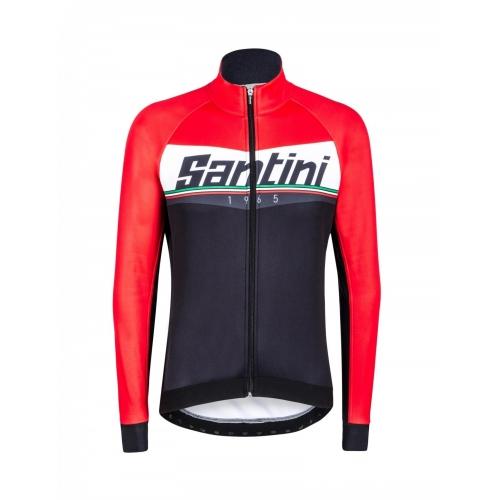 Santini Meridian Winter Jacket red - ποδηλατικό χειμερινό μπουφάν Δαλαβίκας bikes