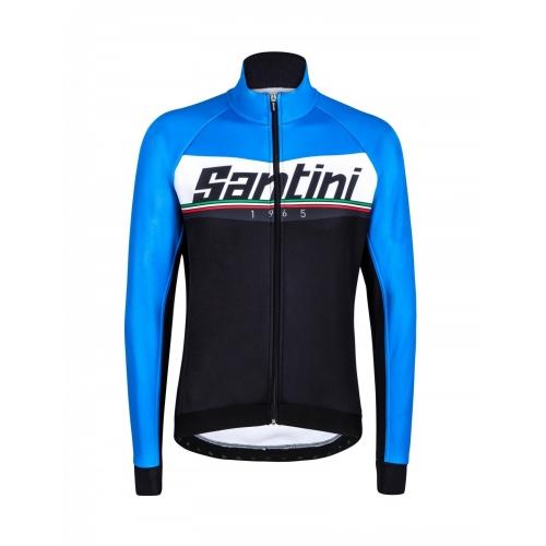 Santini Meridian Winter Jacket blue- ποδηλατικό χειμερινό μπουφάν Δαλαβίκας bikes